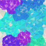 Abstract background of blue and gray light and dark fragments in the style of low-poly. Abstract background of small triangles polygon blue and gray fragments vector illustration