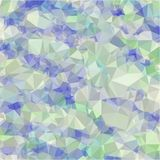 Abstract background of blue and gray light and dark fragments in the style of low-poly. Abstract background of small triangles polygon blue and gray fragments royalty free illustration