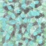 Abstract background of blue and gray light and dark fragments in the style of low-poly. Abstract background of small triangles polygon blue and gray fragments stock illustration