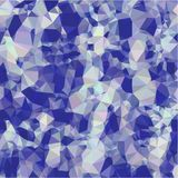 Abstract background of blue and gray light and dark fragments in the style of low-poly Stock Image