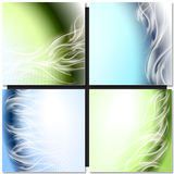 Abstract background blue. Green arc with white waves Royalty Free Illustration