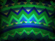 Abstract background - blue and green with black grunge - mandala style Royalty Free Stock Photography
