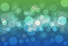 Abstract background blue and green bokeh circles. Beautiful back. Ground with particles Royalty Free Stock Images