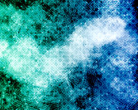 Abstract background -blue and green grunge with diamonds pattern Stock Photography