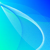 Abstract background with blue and green lines Stock Image