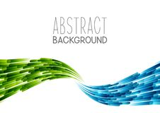Abstract background with blue and green wave. On white royalty free illustration