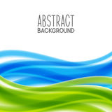 Abstract background with blue and green waves. Abstract background with blue and green elements stock illustration