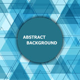 Abstract background with blue hexagon template Royalty Free Stock Photography