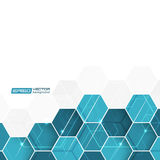 Abstract background with blue hexagonal  pattern Stock Photo
