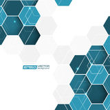 Abstract background with blue hexagonal  pattern Royalty Free Stock Photo