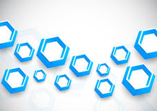 Background with blue hexagons Royalty Free Stock Images