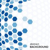 Abstract background with blue hexagons elements Royalty Free Stock Photos