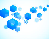 Abstract background with blue hexagons Royalty Free Stock Image