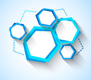 Abstract background with blue hexagons Royalty Free Stock Photo