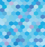 Abstract background blue hexagons. Honeycomb. Vector, seamless repeating pattern, mosaic Royalty Free Stock Photo
