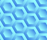 Abstract background blue hexagons Stock Photography
