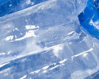 Abstract background of blue ice. Photo of an abstract texture Stock Photos
