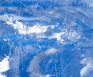 Abstract background of blue ice. Photo of an abstract texture Royalty Free Stock Photo