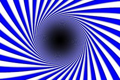 Abstract background blue lines black hole. 3d illustration Royalty Free Stock Image