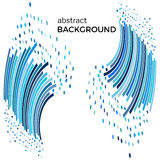 Abstract background with blue lines and flying pieces. Royalty Free Stock Images