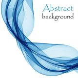 Abstract white background with blue lines in the form of waves. Abstract background with blue lines in the form of waves royalty free illustration