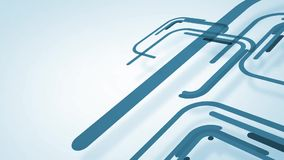 Abstract background with blue lines and squares, loop stock video