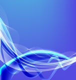 Abstract background. Abstract blue background with luminous stripes and waves Vector Illustration