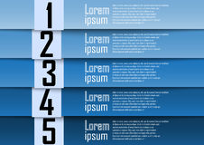 Abstract background, blue number line, info-graphics, number ban Stock Photography