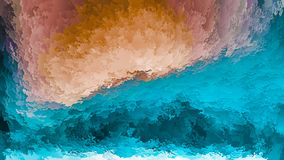 Abstract background, blue and orange layers of flakes, sky and earth, imitation of mountains or cave, warm-cold, natural. Landscape royalty free illustration