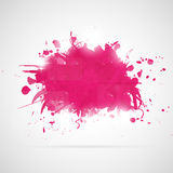 Abstract background with pink paint splashes. Royalty Free Stock Photo