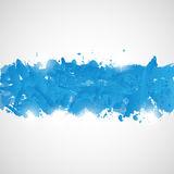 Abstract background with blue paint splashes. Royalty Free Stock Image