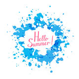 Abstract background with blue paint splashes Stock Photos