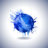 Abstract background with blue paint stroke. Elemen. Element design. Watercolor, grunge background stock illustration