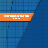 Abstract background with blue paper grid layers royalty free illustration