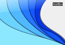 Abstract background with blue paper layers. vector illustration. Stock Photo