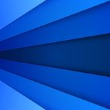 Abstract background with blue paper layers Stock Image