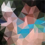 Abstract background of blue and pink and green colors light and dark fragments in the style of low-poly. Abstract background of small triangles polygon blue and royalty free illustration