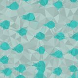 Abstract background of blue and pink and green and yellow colors of light and dark fragments in the style of low-poly. Abstract background of small triangles vector illustration