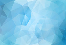 Abstract background blue polygons. Tech abstract background of blue polygons stock illustration