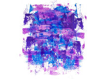 Abstract background of blue and purple brush strokes. Lilac blue acrylic background. Stock Photo