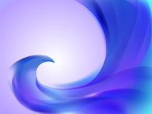Abstract background with blue and purple wavy lines Stock Photo