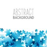 Abstract background with blue puzzle. Elements Royalty Free Stock Photos