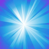 Abstract background. With blue rays vector illustration