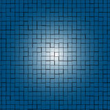 Abstract background of blue rectangles. With light in the center Stock Photos
