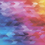 Abstract background in blue, red and yellow tones. Diamonds and triangles Royalty Free Stock Photography