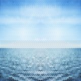 Abstract background blue sea. vector illustration. 10 eps Stock Images