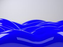 Abstract background, blue sea or water waves, 3d illustration Royalty Free Stock Photos