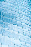 Abstract background of blue shining blocks. Stock Photography