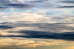 Abstract background, blue sky with dark cumulonimbus clouds. Royalty Free Stock Photography