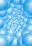 Abstract background - blue spheres Stock Photography